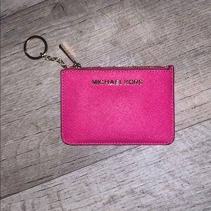 Pink card holder